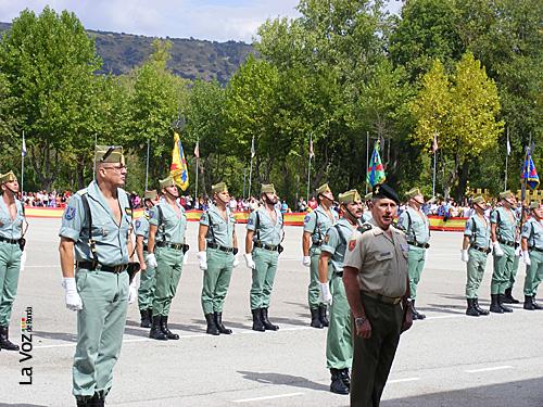 El coronel Martín Bernardi y el General Medina Cebrián, el pasado 20 de septiembre.