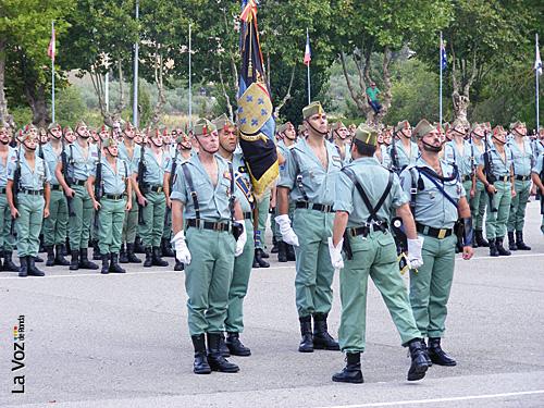 Momento de la Parada Militar en el patio de armas General Pallás.