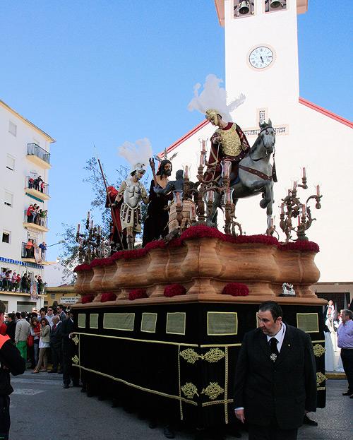 El Prendimiento salió desde la iglesia de San Cristóbal.