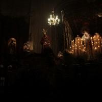 Pasos de los Gitanos expuestos en la colegiata de Santa María.
