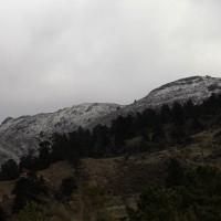Nevada en la Sierra de las Nieves esta Semana Santa.