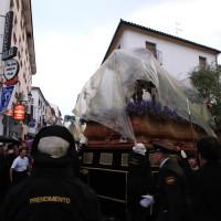 El Prendimiento y la Virgen del Rosario en la proximidades de plaza Carmen Abela.