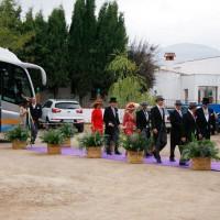 La mayoría de invitados llegó en autobús.