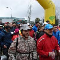 Medio millar de deportistas participan en la III Carrera de Acinipo desafiando al mal tiempo