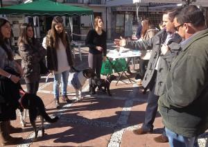 Los perros protagonizaron algunas de las actividades.