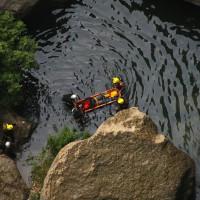 Rescatan a un hombre herido mientras practicaba barranquismo en el Tajo
