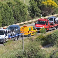 Un accidente en la circunvalación deja dos fallecidos y cinco heridos