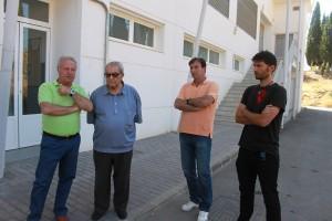 Manuel Guerrero, Antonio Morales y Ángel Oliva tras la rueda de prensa.