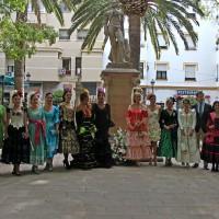Ofrenda a Pedro Romero y Virgen de la Paz, previa del inicio de la Feria
