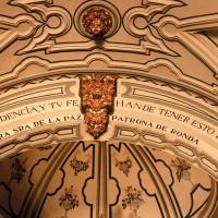 El techo del Santuario de la Virgen de la Paz, en peligro de derrumbe
