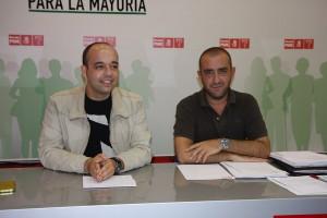 Alberto Orozco y Francisco Márquez en su sede