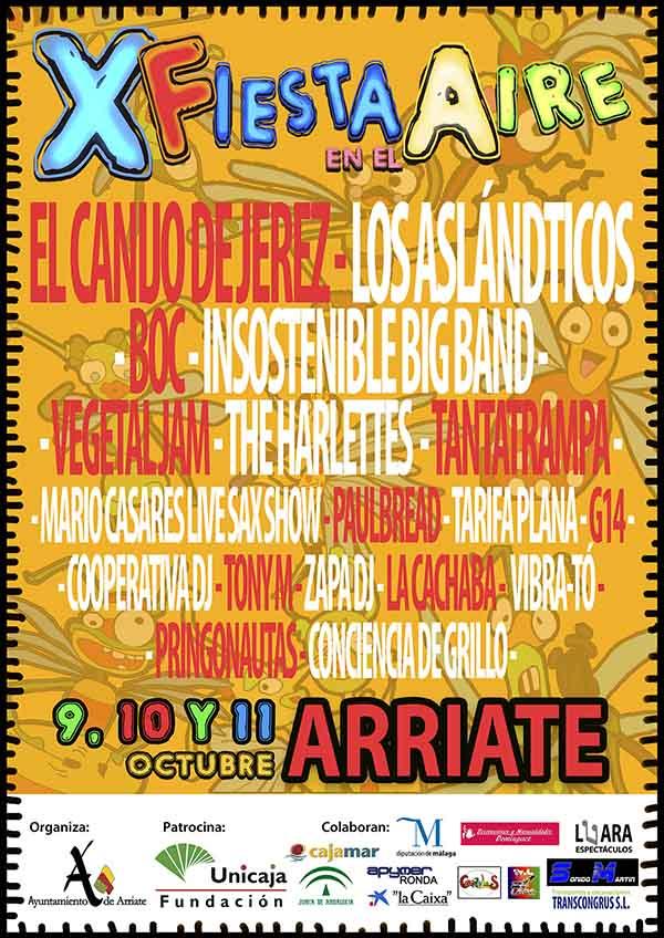 Fiesta en el Aire 2015, actuaciones