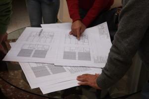 Planos de la construcción de las nuevas infraestructuras