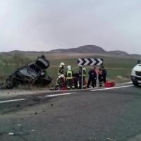 Un fallecido y ocho heridos en un aparatoso accidente de tráfico