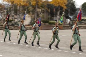 Momento de la parada militar.