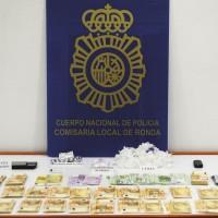 Detenido en Ronda un hombre de 71 años por tráfico de cocaína