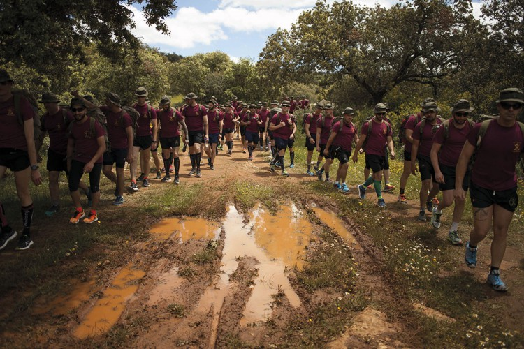Los 101 km de la Legión reunirá en Ronda este sábado a 240 equipos de marchadores