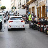 Cuatro calles cortadas al mismo tiempo por obras en el centro provocan importantes retenciones