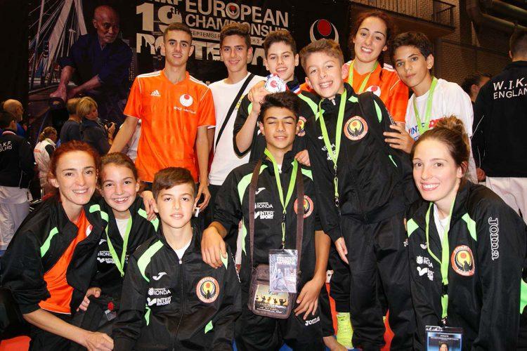 Gran actuación de los karatecas del Club Bushido en el Campeonato de Europa celebrado en Holanda