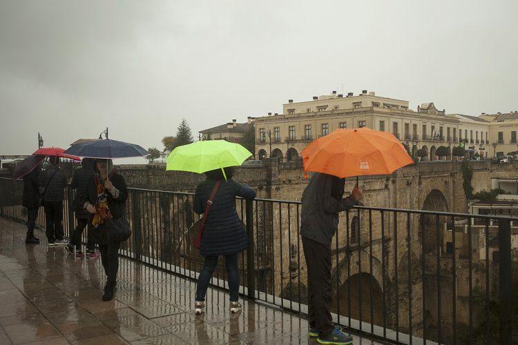 Aemet eleva a nivel naranja la alerta en la Serranía de Ronda para este sábado por intensas lluvias