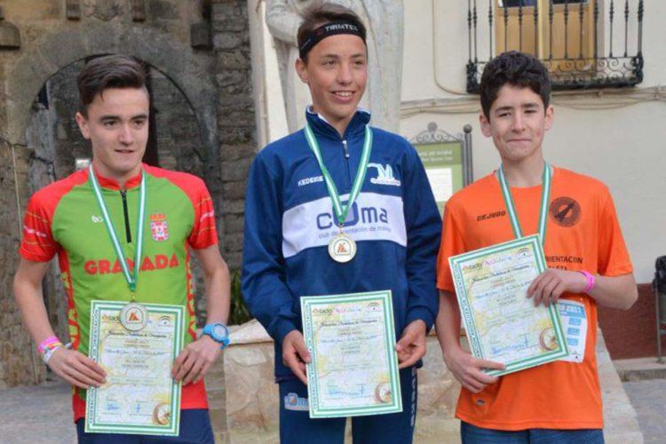 El rondeño Lucas Stangegaard logra tres medallas en el Campeonato de Andalucía de Orientación en edad escolar