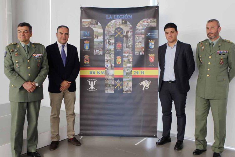 La Legión y la Diputación presentan la XX edición de los 101 kilómetros en 24 horas