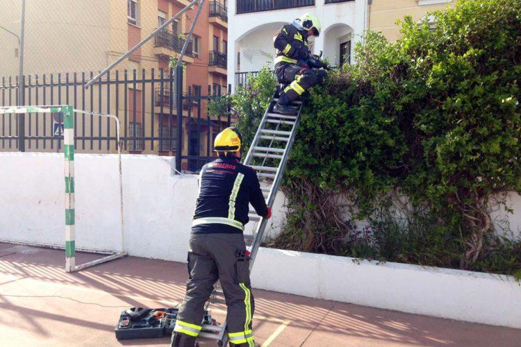 Los bomberos realizan ocho actuaciones en Ronda, de momento, por las fuertes rachas de viento