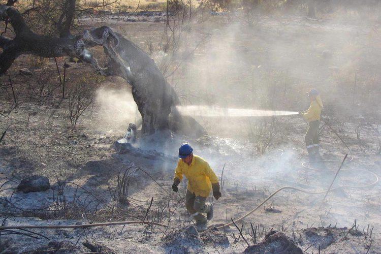 CC.OO alerta de que a pesar de las altas temperaturas tan sólo hay 11 bomberos operativos de los 170 que tiene el Infoca en Ronda