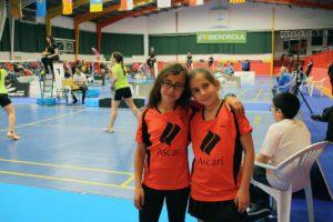 Las pequeñas Alba y Lourdes son las únicas representantes rondeñas en este campeonato.