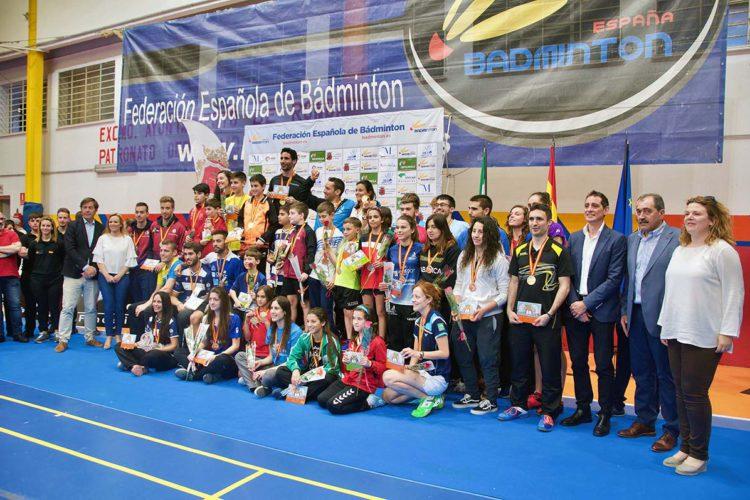Gran nivel deportivo y máxima animación en el Campeonato de España de Bádminton celebrado en Ronda