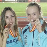 Las rondeñas Ana Ramírez y Lily Hulland logran dos medallas de bronce en el Campeonato Juvenil de Atletismo
