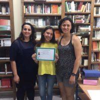 La alumna Chesca Morillas, del IES Gonzalo Huesa, gana el concurso de carteles 'Lo mejor es no fumar'