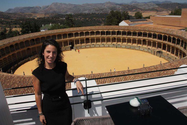 """Mariana Márquez, directora del Hotel Catalonia: """"hemos buscado que la decoración y que el servicio estén acordes con la esencia de Ronda"""""""