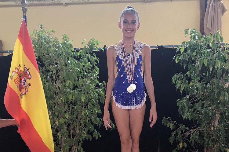 La rondeña Eva Barea logra dos medallas de oro en el Open Internacional de Gimnasia Rítmica celebrado en Francia