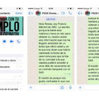 Los mensajes de Whatsapp del 'caso boda' que traen de cabeza a Valdenebro