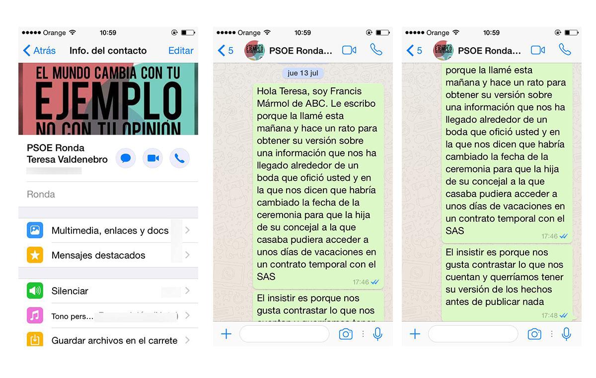 Los mensajes de Whatsapp del \'caso boda\' que traen de cabeza a ...