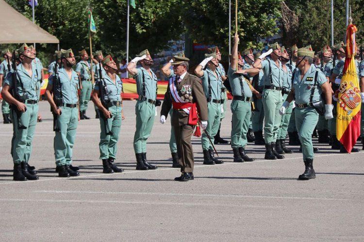 La Legión cierra los actos de su 97 aniversario con una formación en el acuartelamiento de Montejaque