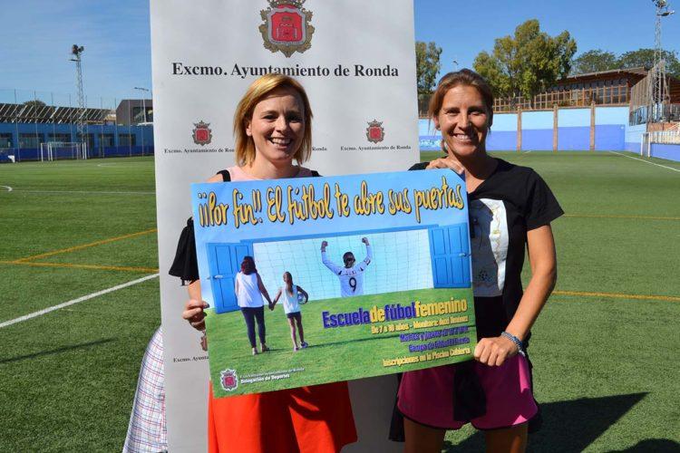 Ronda pone en marcha su primera Escuela de Fútbol Femenino que será dirigida por la jugadora Auxi Jiménez