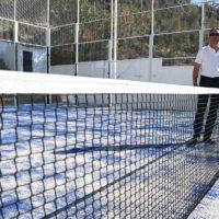 Jubrique finaliza los trabajos de su pista de pádel con una inversión de la Diputación de 33.000 euros