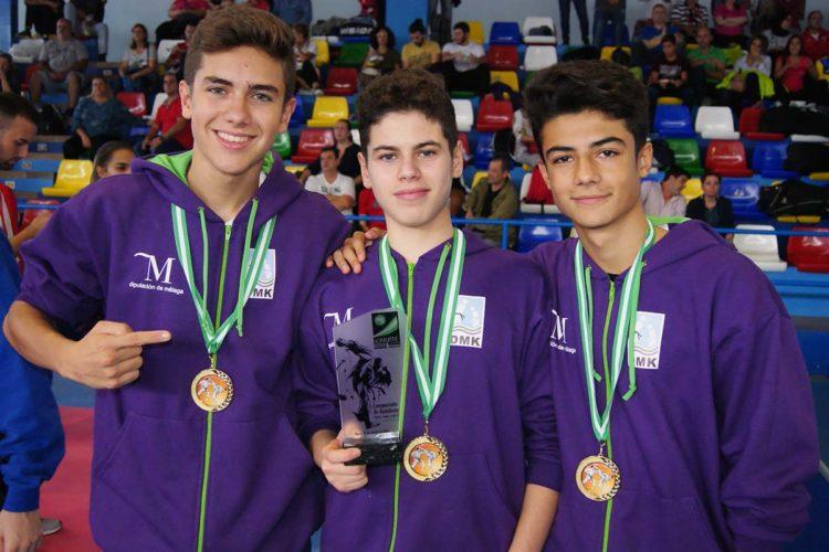Tres jóvenes karatecas del Club Bushido de Ronda logran el primer puesto en el Campeonato de Andalucía