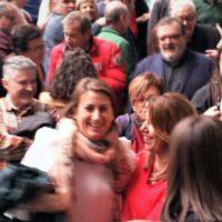 Susana Díaz felicita a Isabel Aguilera por su nombramiento como nueva secretaria general del PSOE de Ronda