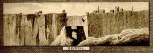 Grabado antiguo del Tajo de Ronda.
