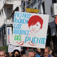 Imagen de la primera manifestación celebrada el pasado 24 de diciembre.