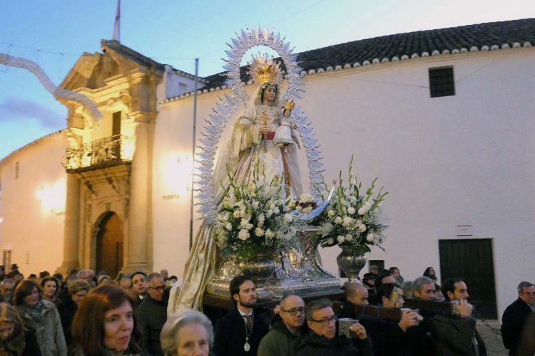 La Virgen de la Paz, Patrona de Ronda, se traslada hasta La Merced donde se celebrará la novena en su honor
