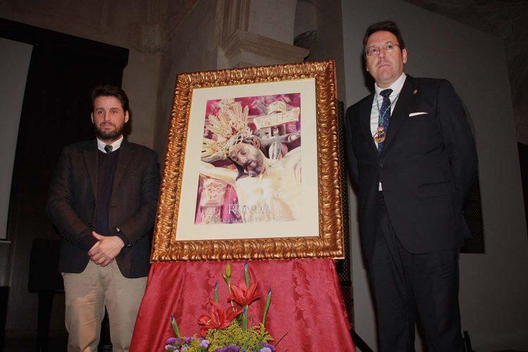 Un primer plano del Cristo de la Sangre es la imagen elegida para el cartel de la Semana Santa de Ronda