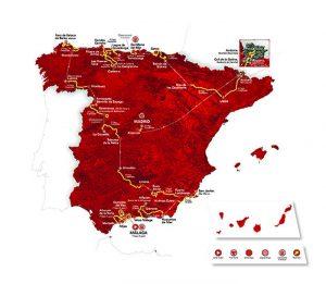 Mapa del recorrido de la Vuelta.