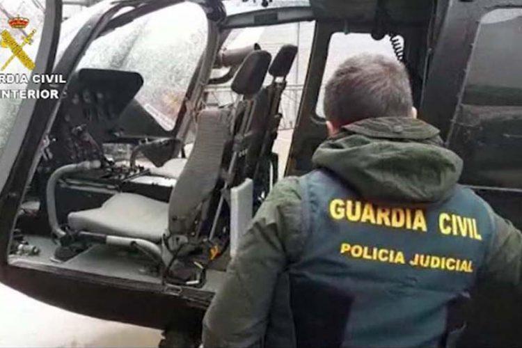 La Guardia Civil desarticula una banda que usaba helicópteros en la Serranía de Ronda para traficar con hachís
