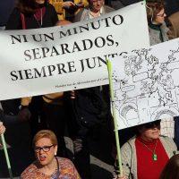 Imagen de una de las multitudinarias manifestaciones contra el corte del Puente Nuevo.
