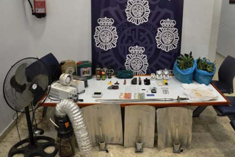 La Policía Nacional desmantela en Ronda uno de los puntos de venta de drogas al menudeo más activo de la ciudad