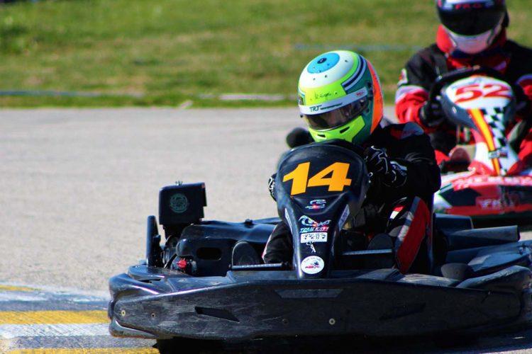 El piloto rondeño 'Ordu' quedó cuarto en la carrera de Karting de las 24 Horas Hispalenses